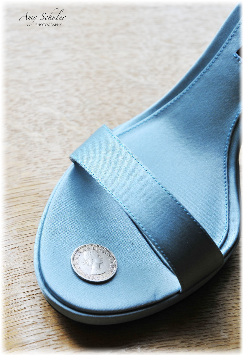 The sixpence and my blue shoe