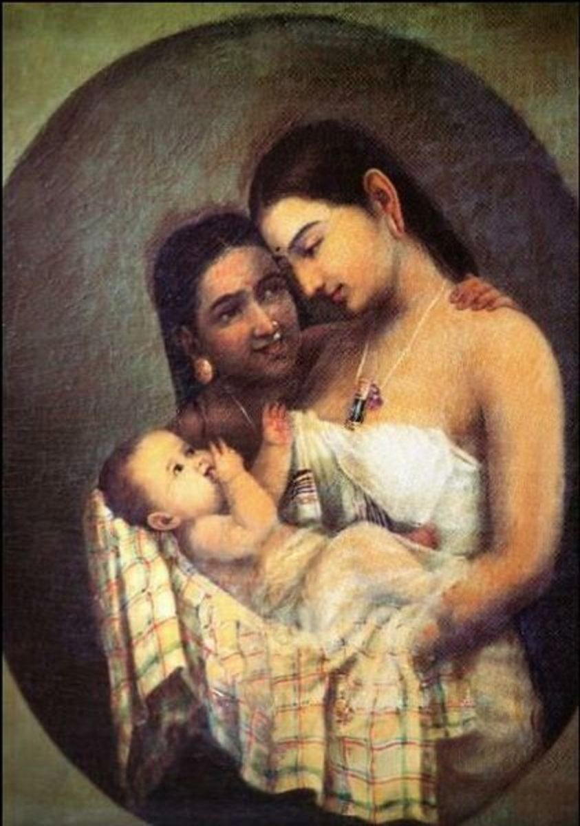 Mother and Child, by Raja Ravi Varma. Date unknown.
