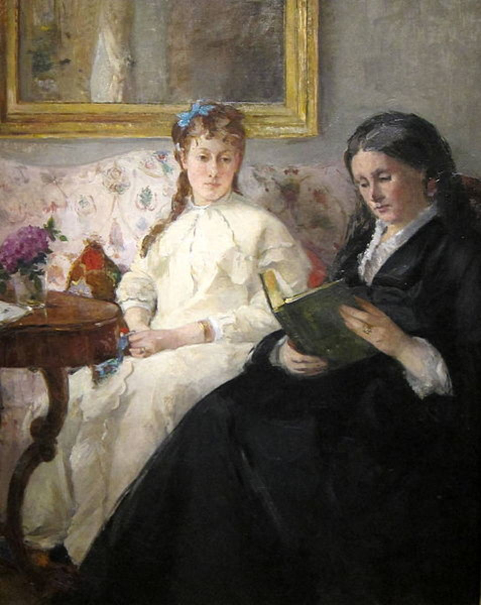 The Mother and Sister of the Artist, 1869, by Berthe Morisot