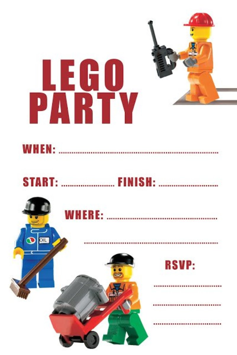 Lego Birthday Party Ideas Free Printables – Lego Party Invitations Printable