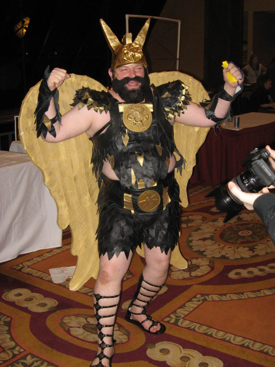 A Prince Vultan costume.