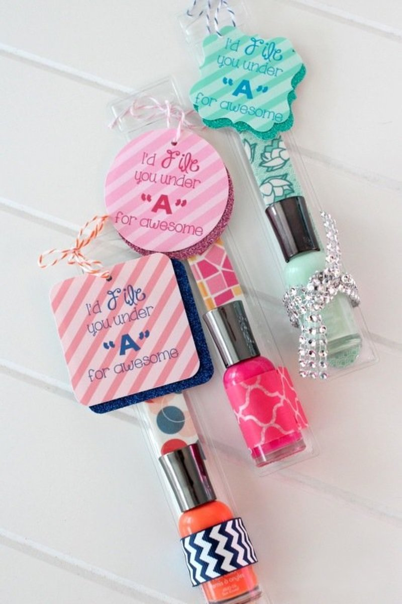 Nail Polish and File Gift Set - Homemade Gifts for Girls