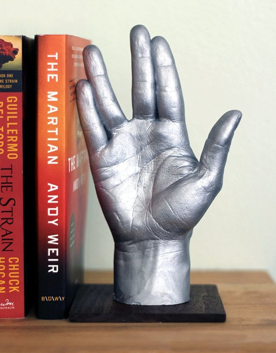 To show a geeky guy you care about his interests, make him a unique gift like this awesome bookend.