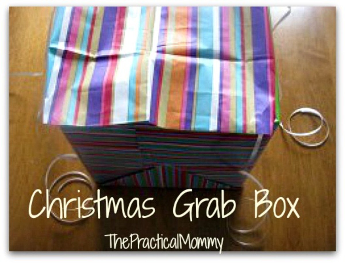 Finished Christmas Grab Box