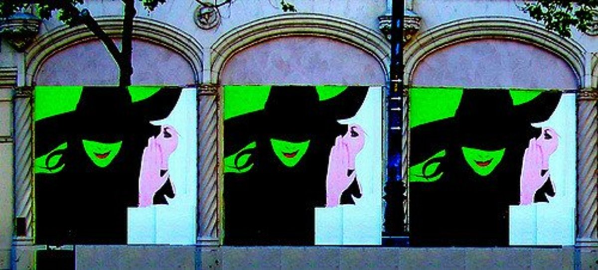 "A mural for the play ""Wicked"" in 2016."
