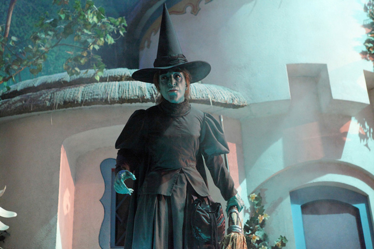 The Wicked Witch of the West with makeup better resembling real gangrene infection. Seen in the Great Movie Ride at Disney's Hollywood Studios.