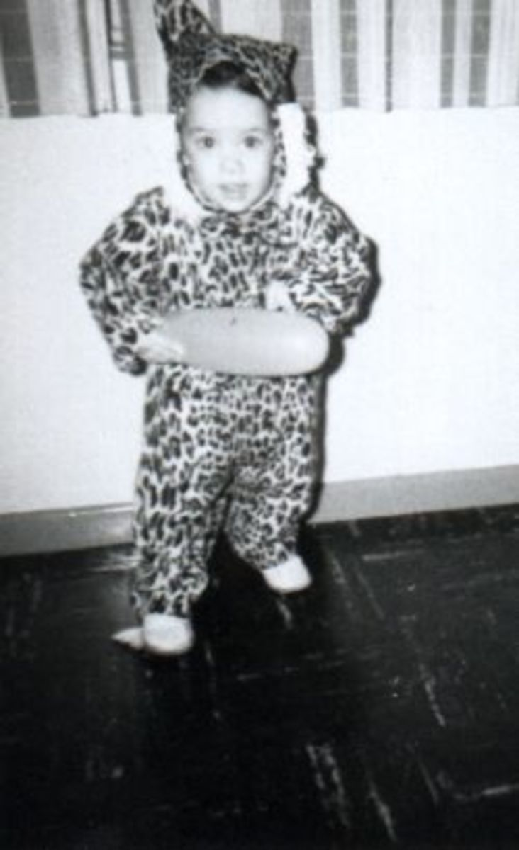 My first time going trick or treating, ca 1966