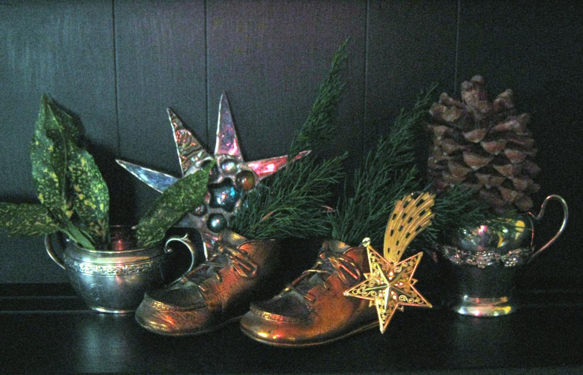 Bronze Baby Shoe Christmas Decoration