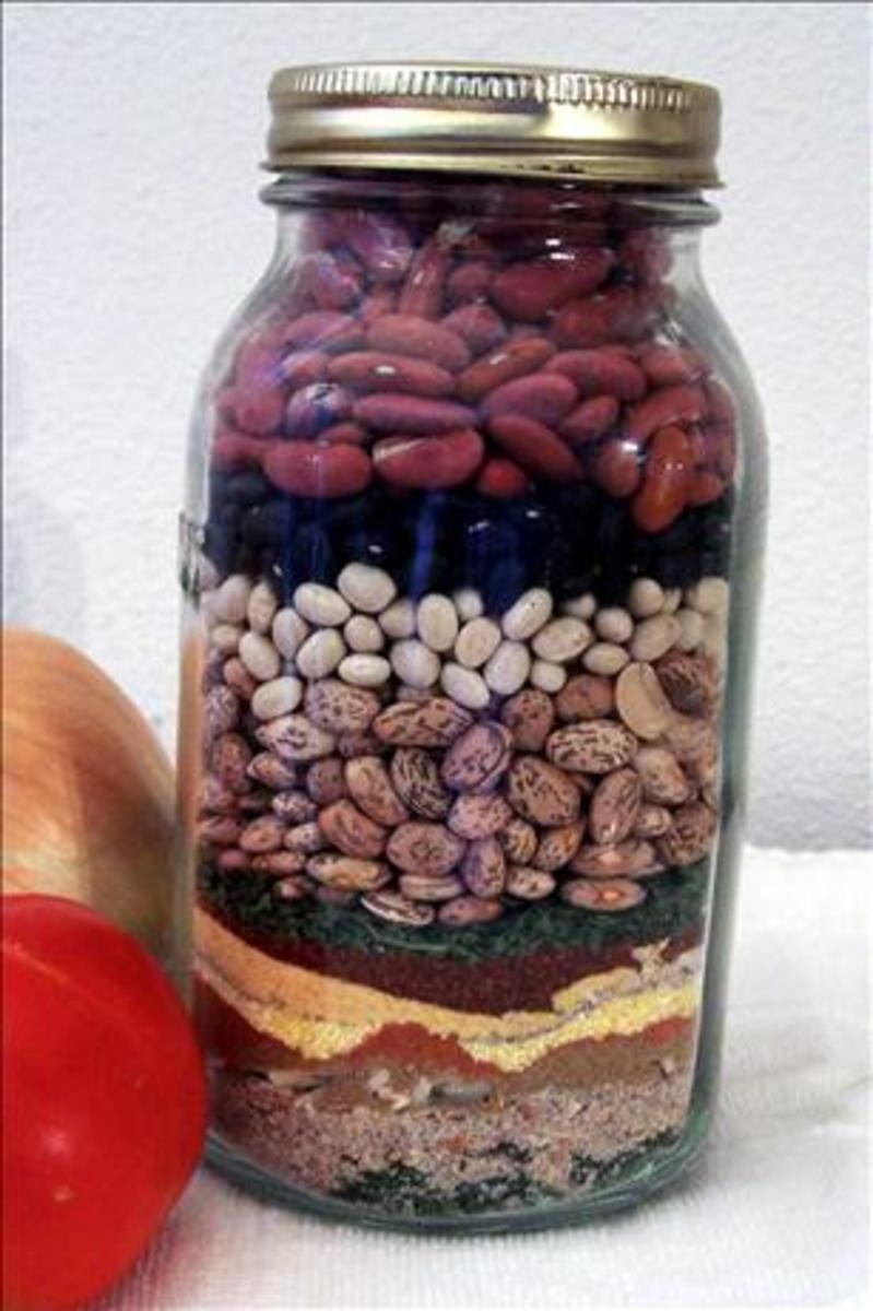 Painted Desert Chili mix in a jar Photo by Paula G.