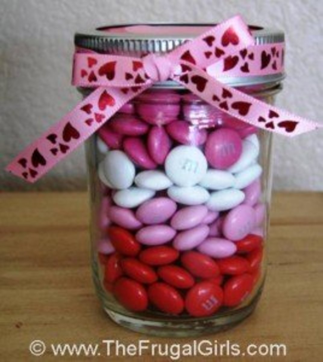 gift jar with candy