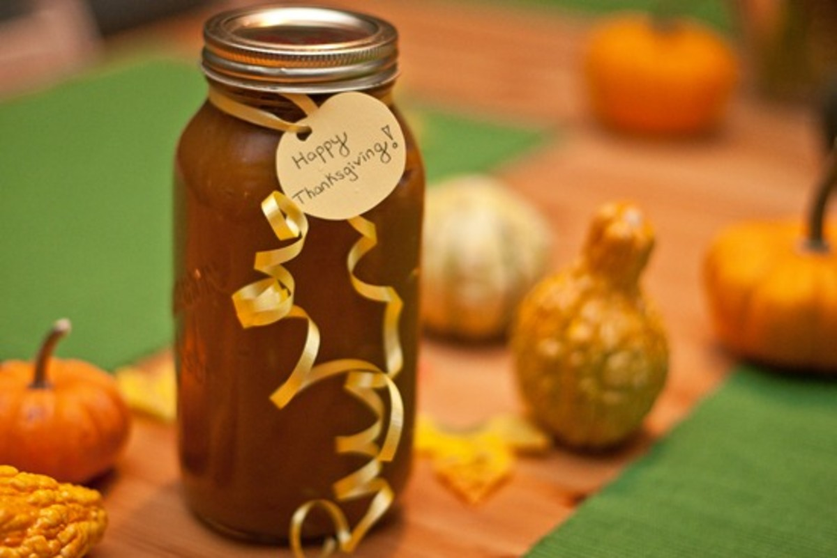 Homemade Pumpkin Butter in a Jar