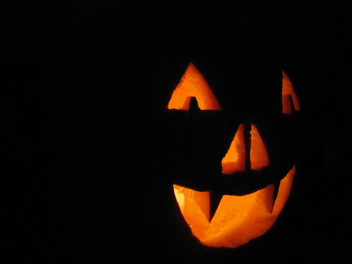 A spooky pumpkin