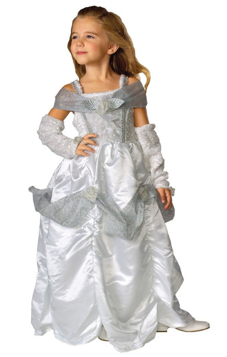 A sparkling silver dress for a young ice princess