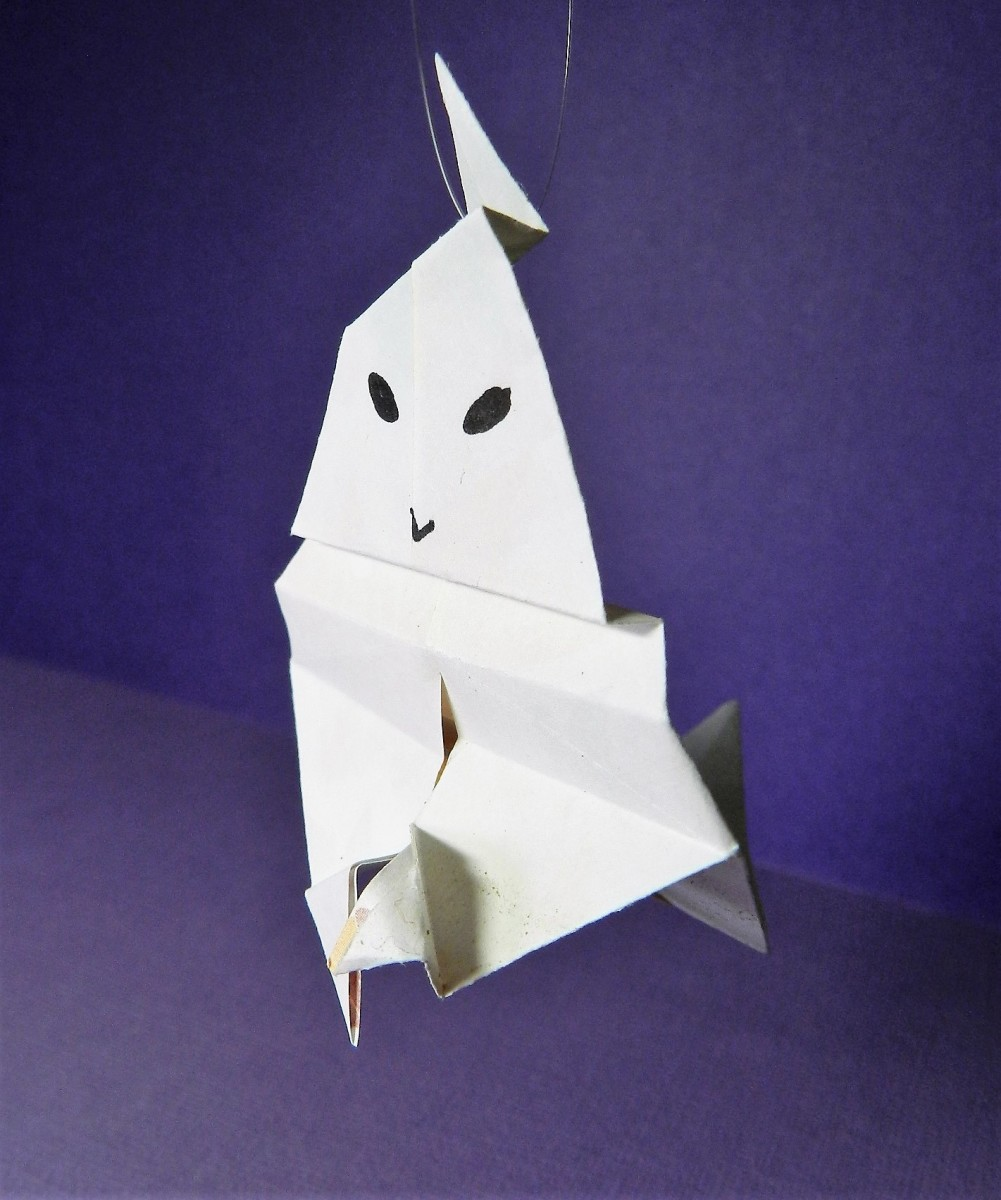 How To Make Origami Ghosts??? Its Not Scary As You Think !!!!(Text ... | 623x520