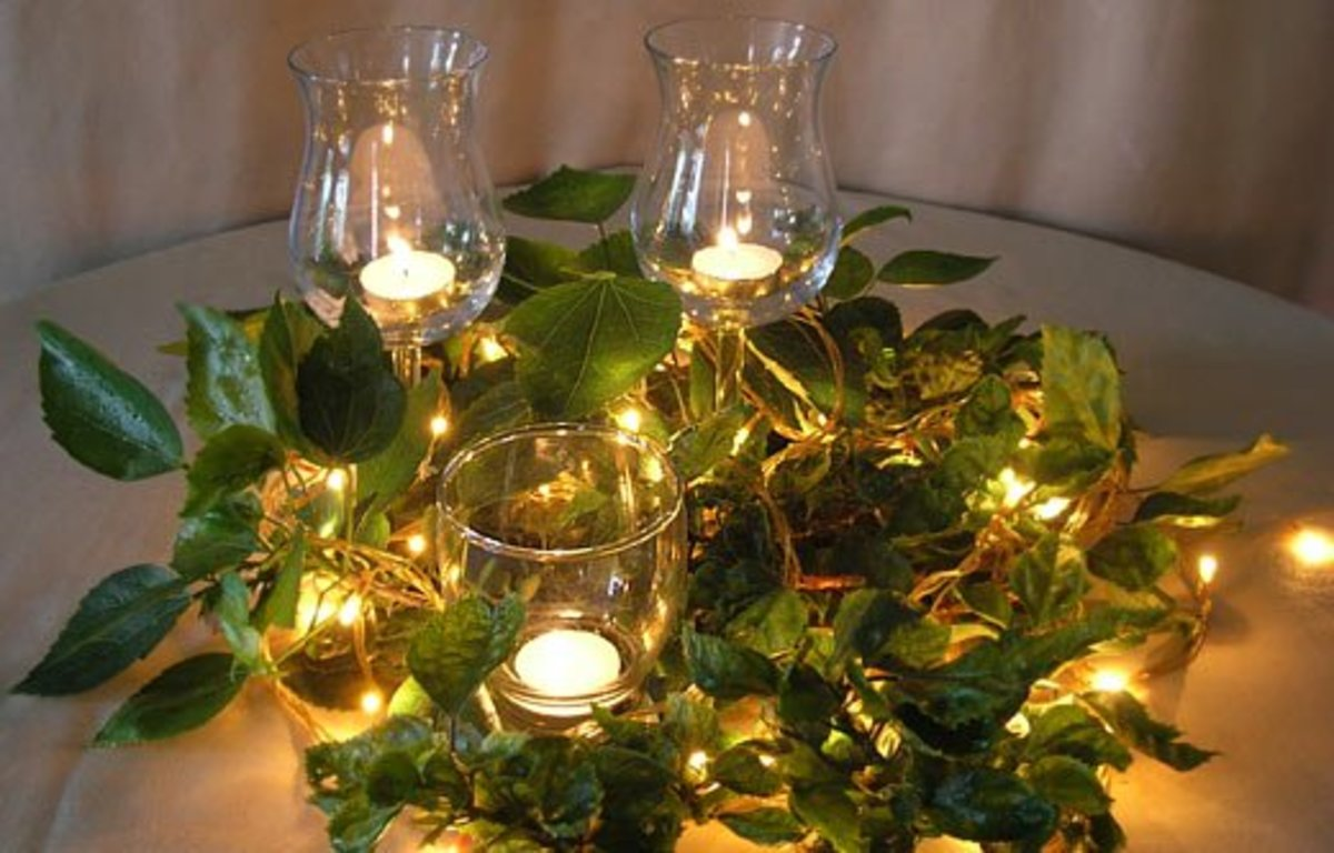 Natural Candle Centerpiece