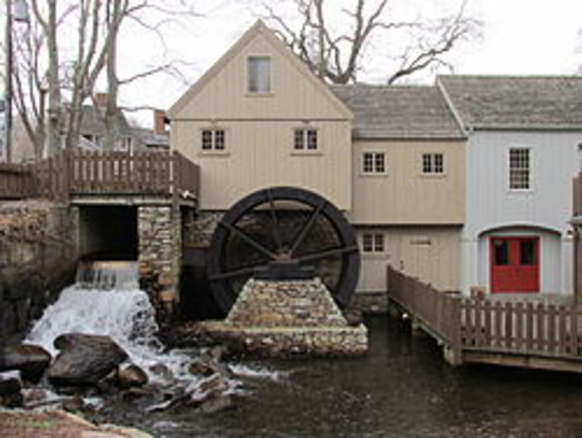 Replica of the Jenney Grist Mill