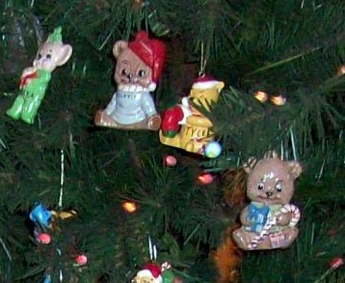 Our handmade ornaments have been on the tree for many many years.