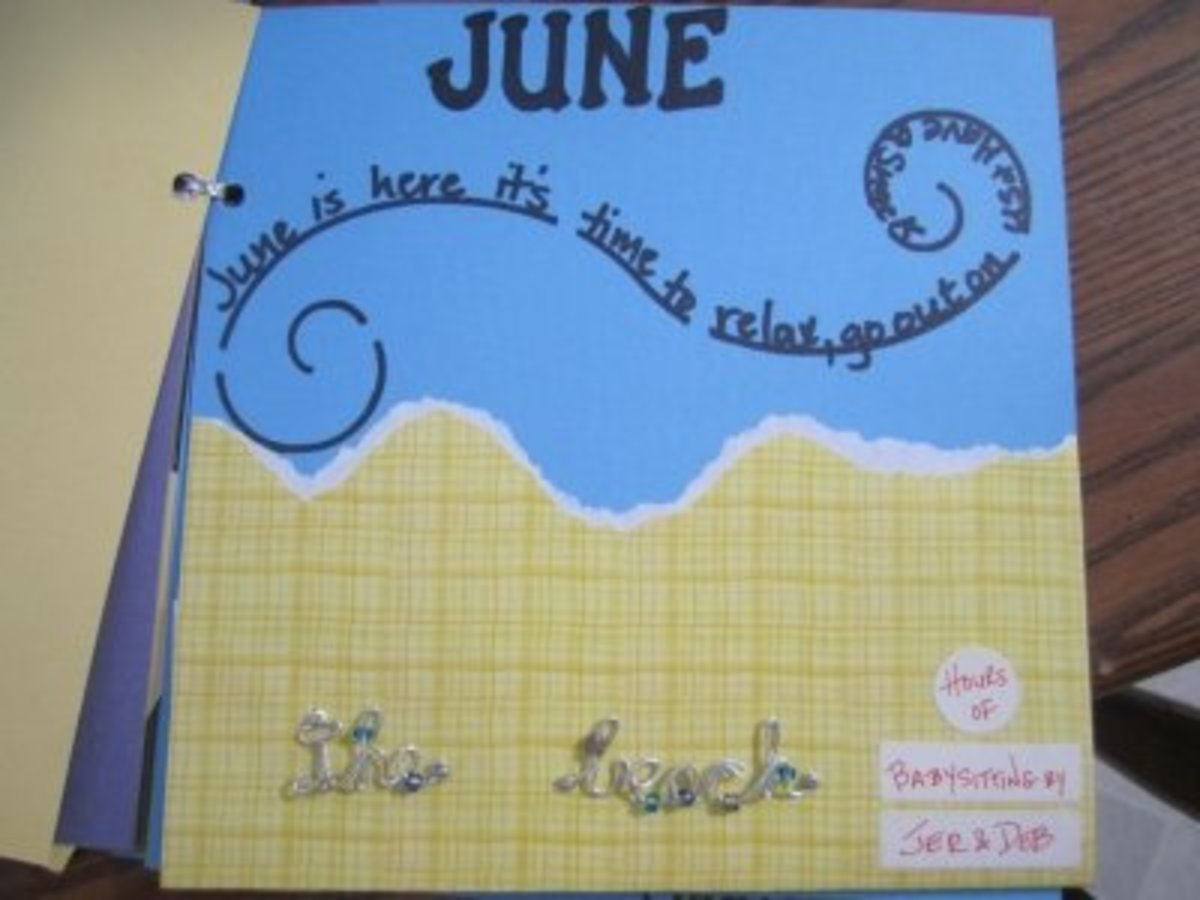 June's babysitting / date night coupon has a summer theme.