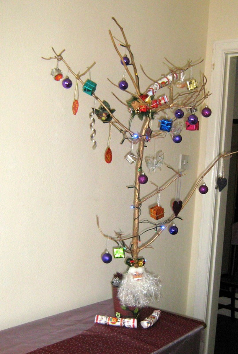 A homemade Christmas tree