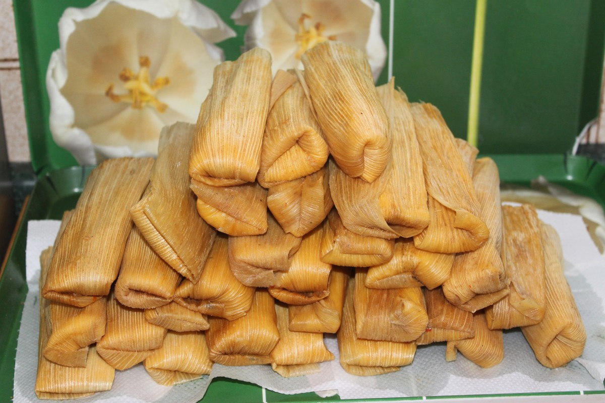 Tamales are a traditional Mexican food which are often eaten during the Christmas season