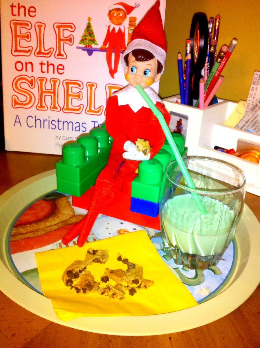 Mmm...cookies and elf milk!