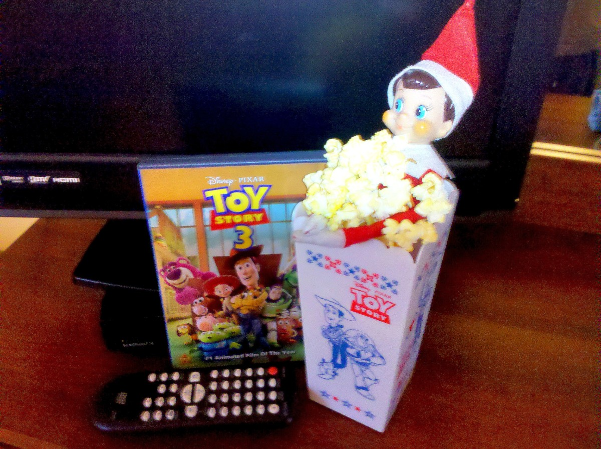 Enjoy a movie and popcorn with your elf!