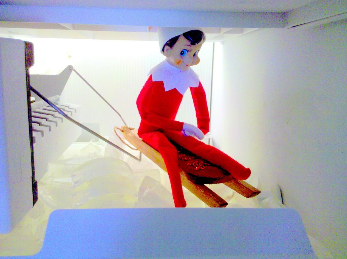 Elf fun in the freezer!