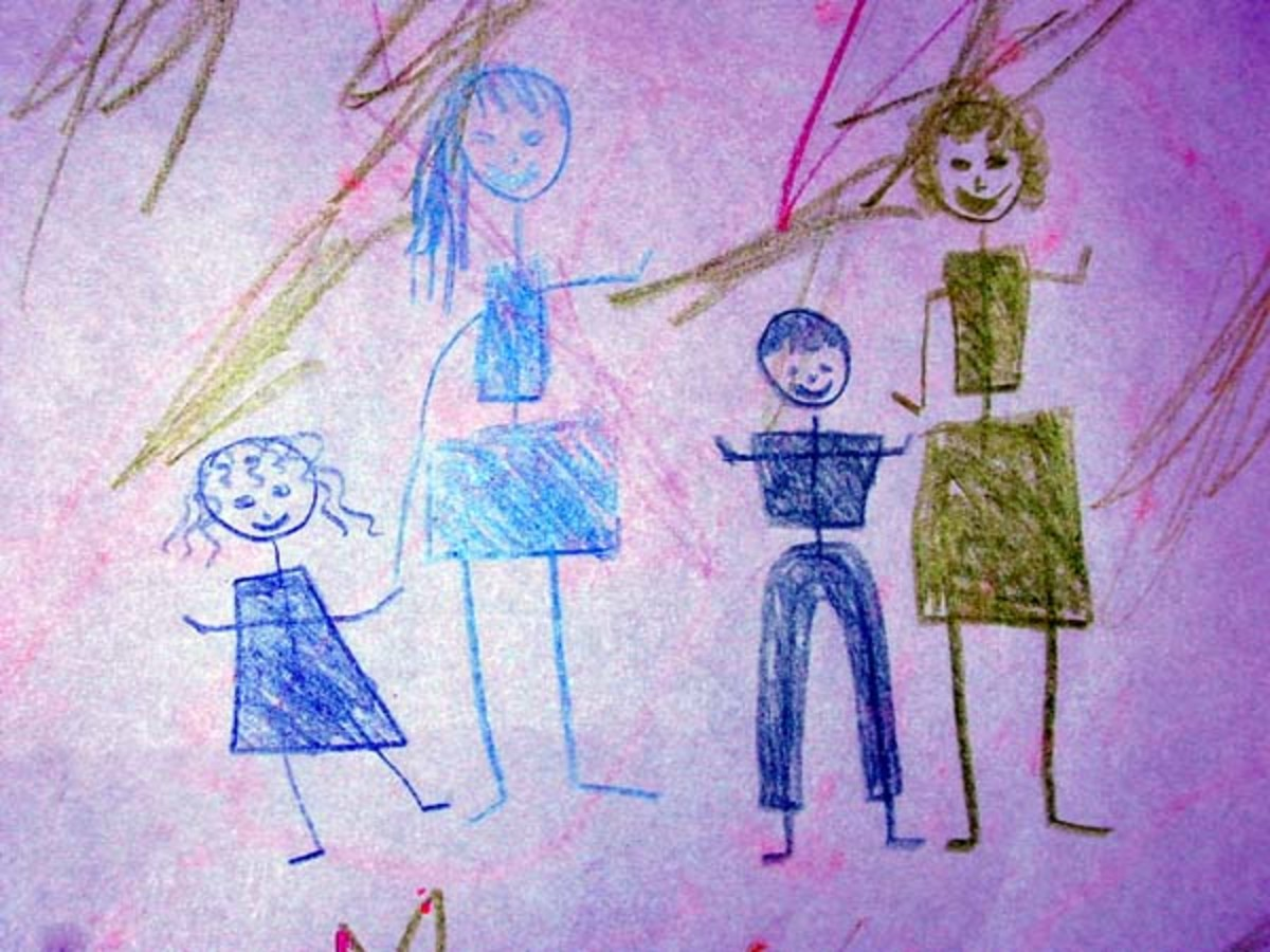 A drawing made by a child adds a personal touch to your holiday cards.
