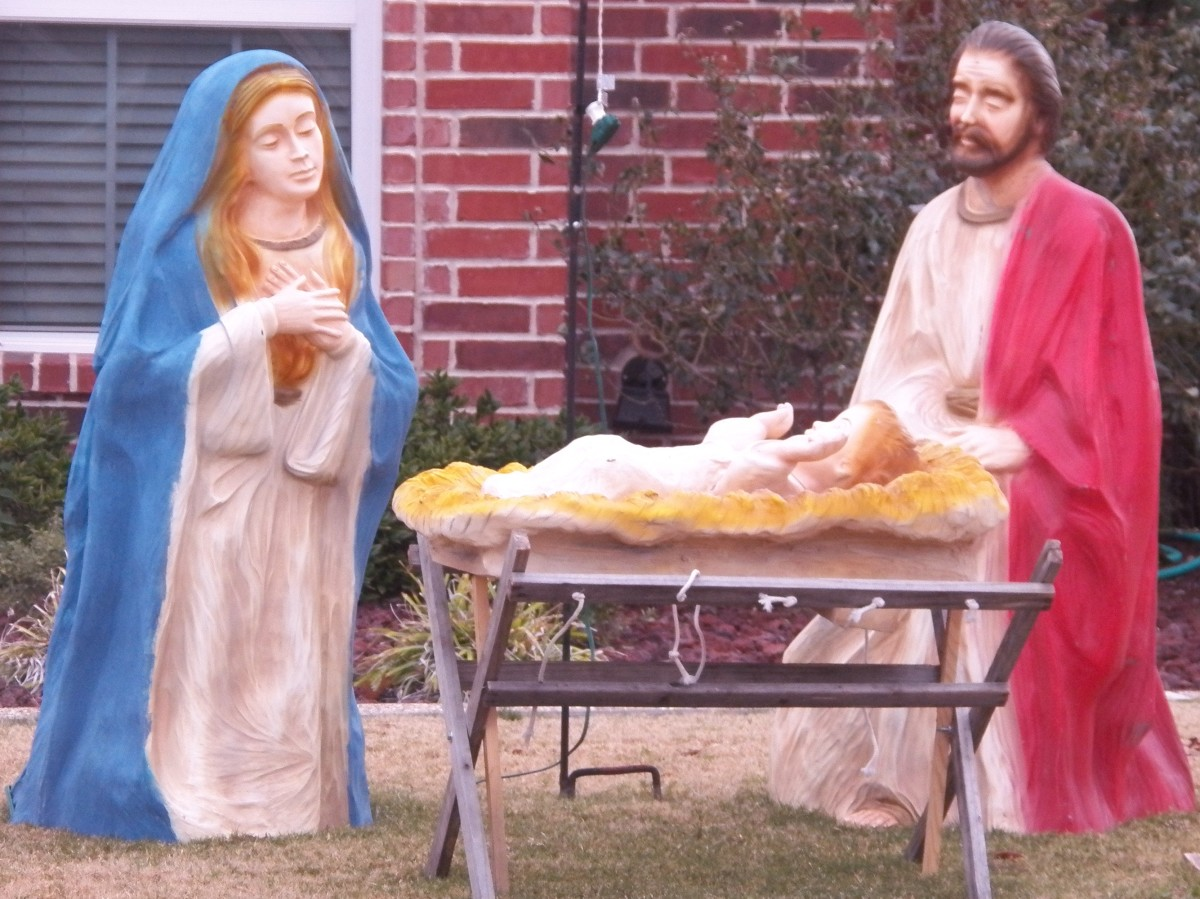 We love to take a trip around town to look at nativity displays and vote for our favorite.
