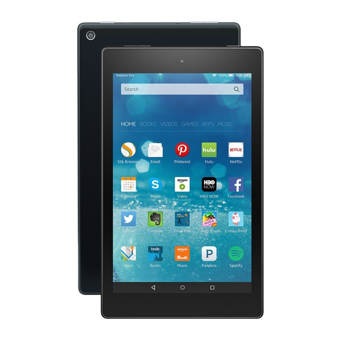 the Amazon Fire 8-in screen  works for video and movie watching as well as reading.