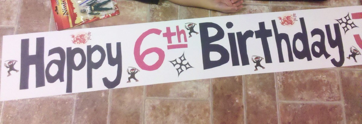 Ninja Birthday Banner