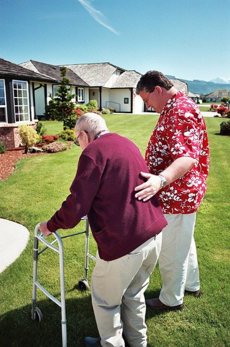 Touch is an extremely important gift to the elderly.