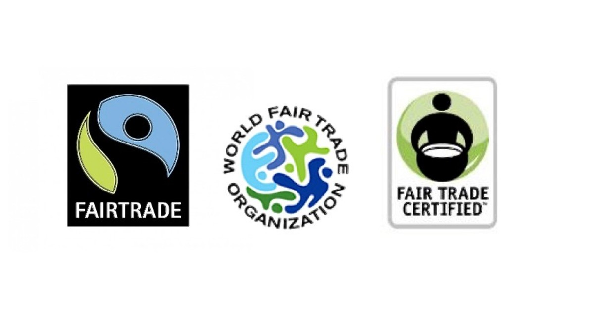 These are International Fair Trade Symbols that show the employees of product manufacturers are being paid fair wages.