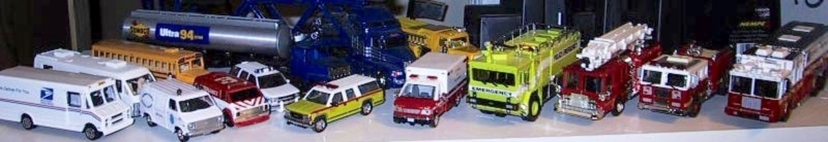 Toy trucks used to be made of metal, which is more eco-friendly than plastic.