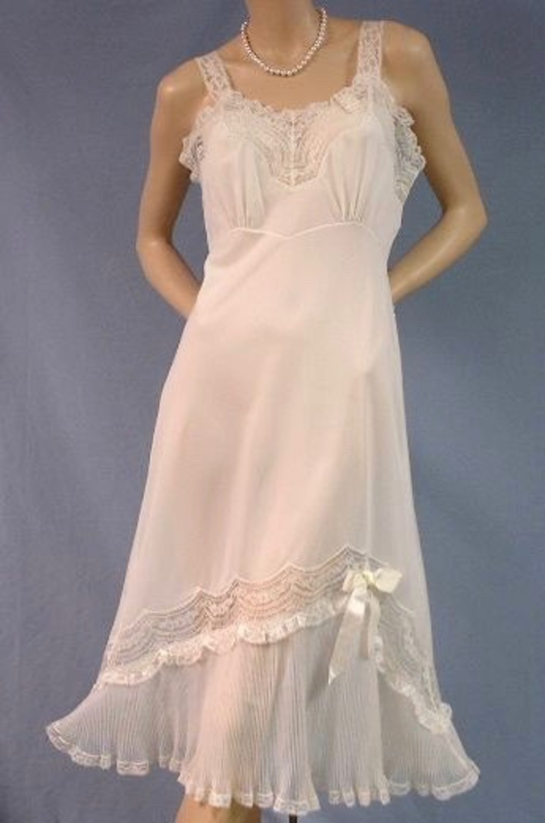 1950s bridal slip. These days such vintage clothing can actually be worn as a dress.