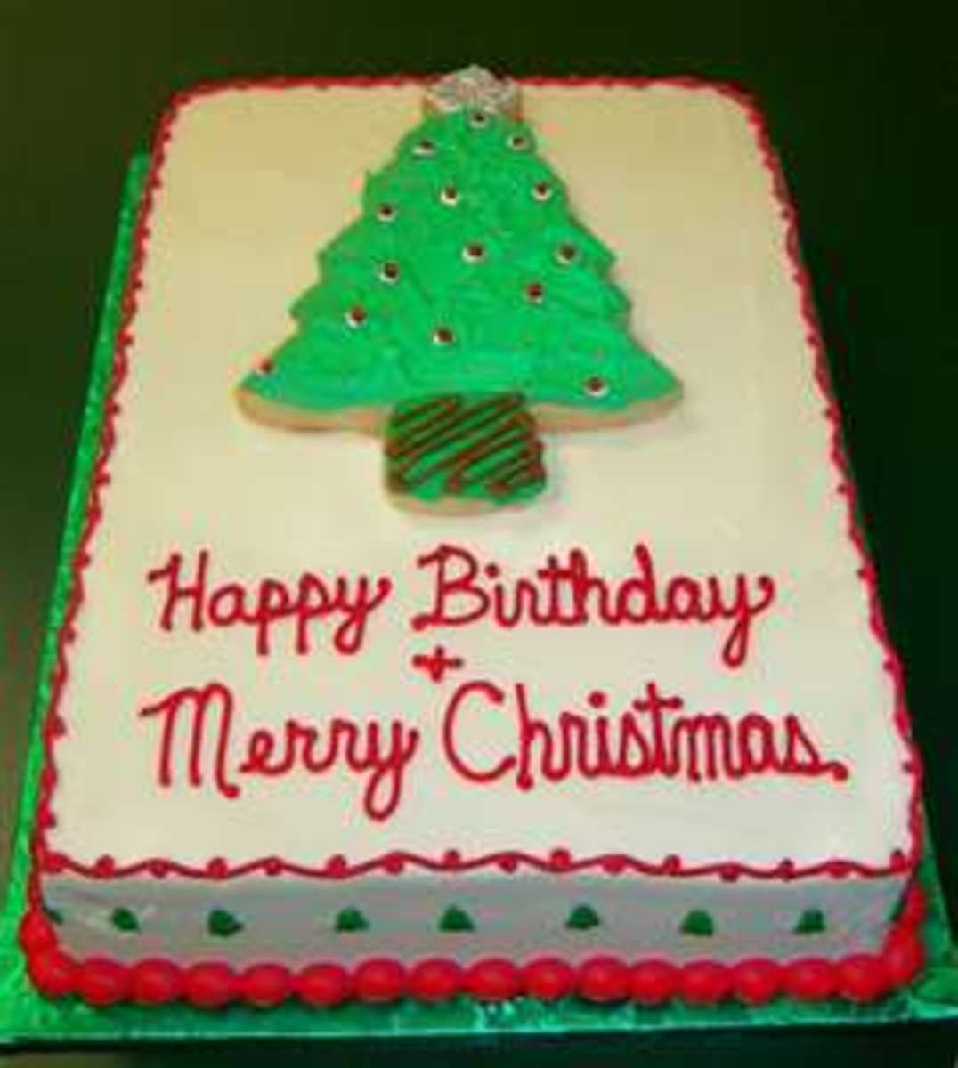 Christmas Birthday Cake