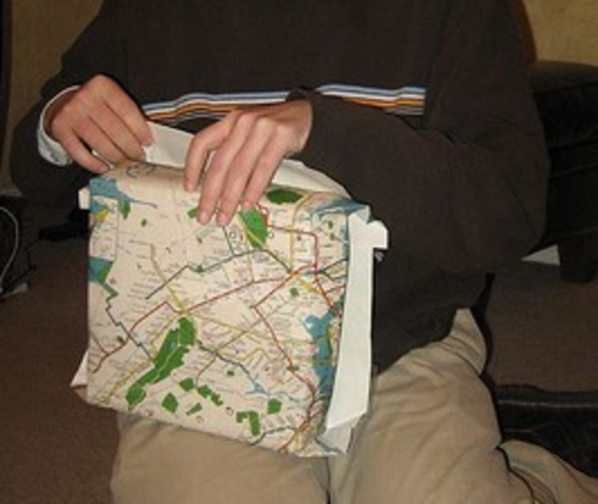 Map Wrapping Paper
