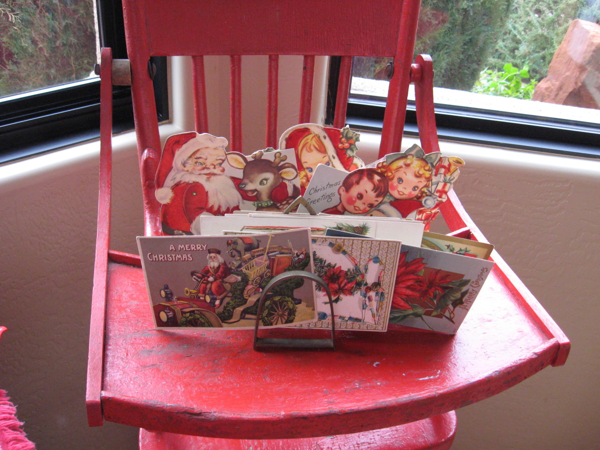 Christmas postcards and vintage cards