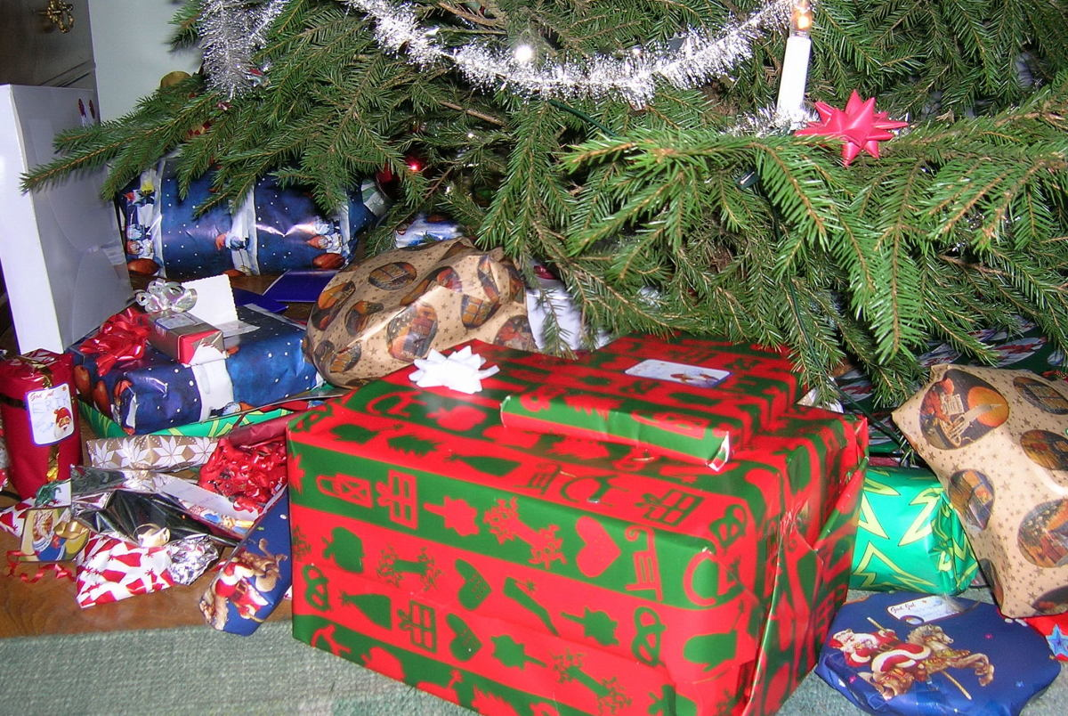 How quickly will your family tear through this stack of presents?