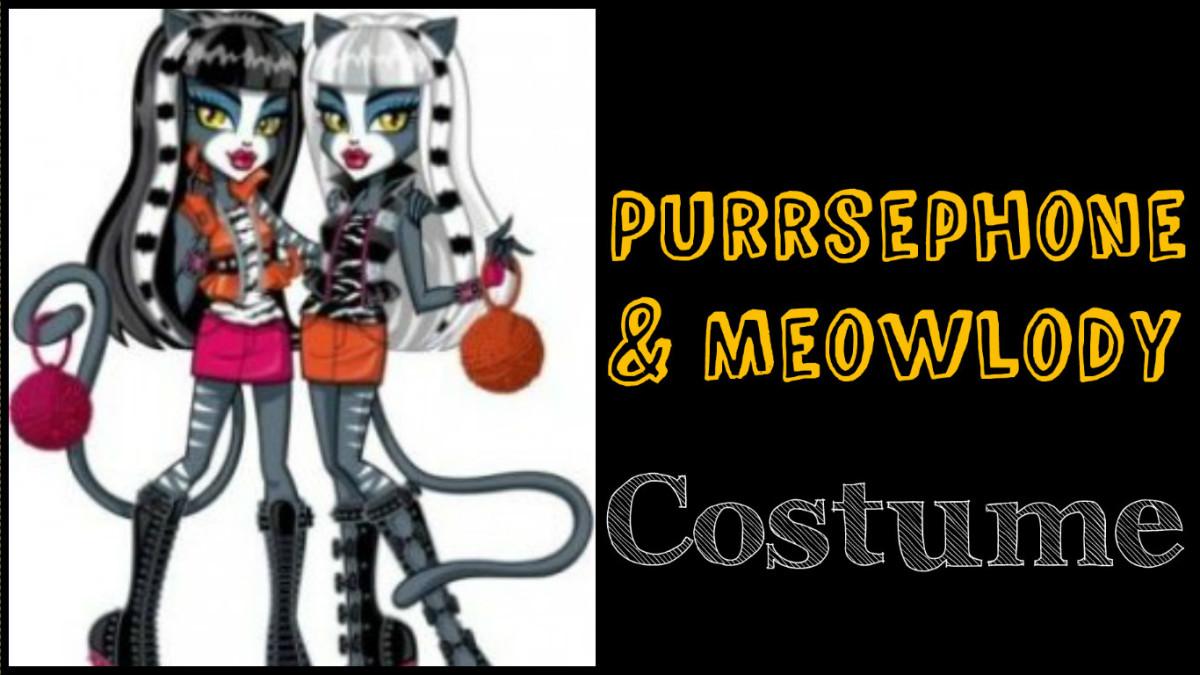 Purrsephone and Meowlody costume