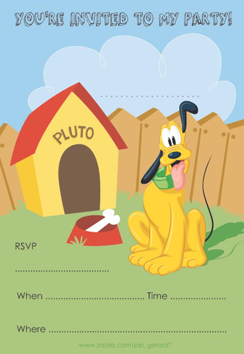 Free Pluto Printable Invite