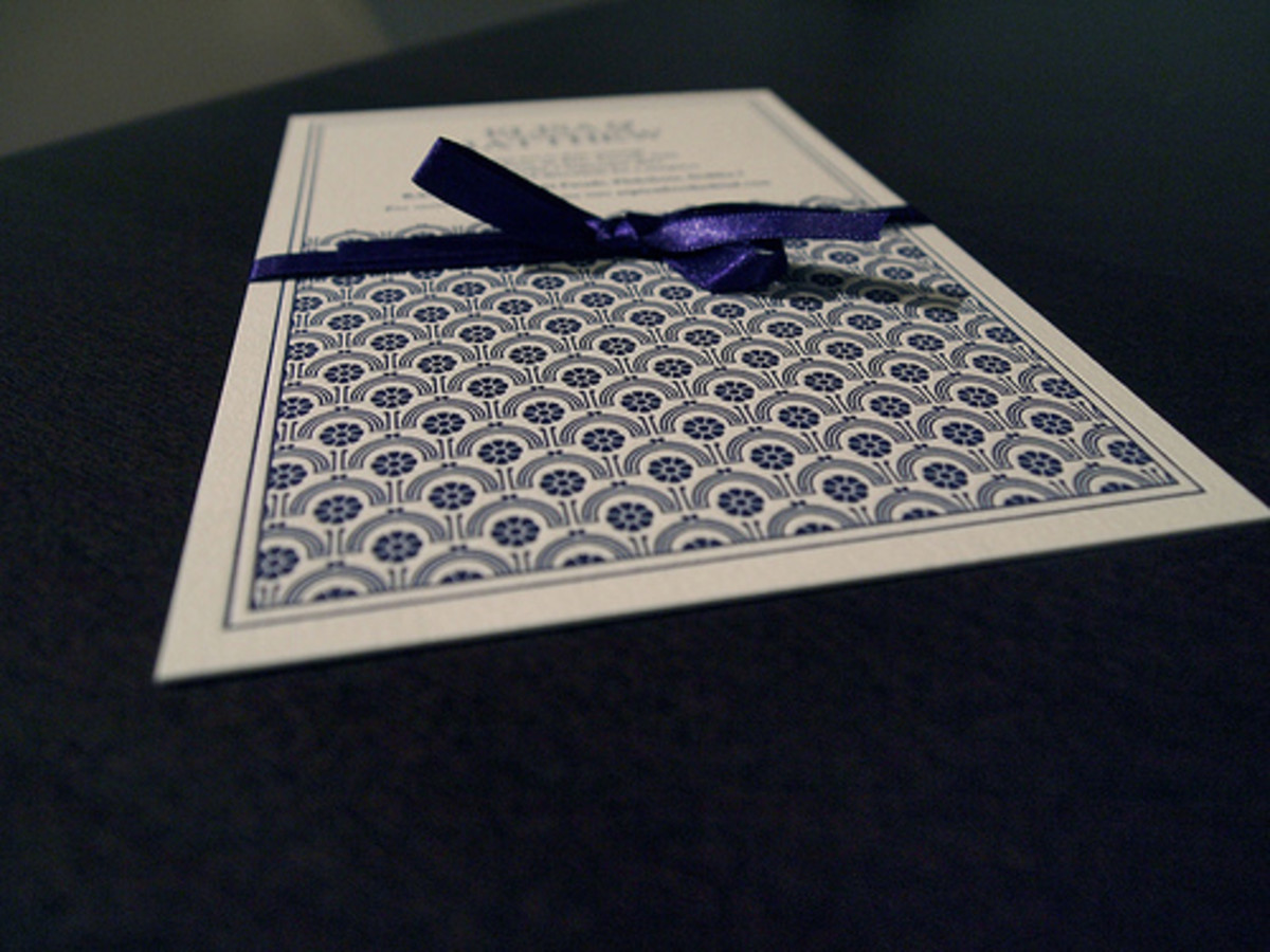 There are more than a few websites that will happily send you invitation samples to help you find the perfect card.