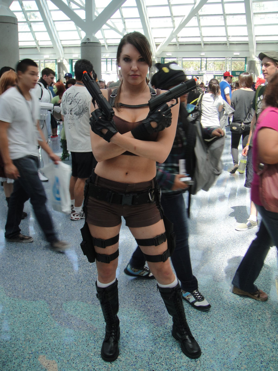 In order to pull off Lara Croft's style, especially in a cosplay
