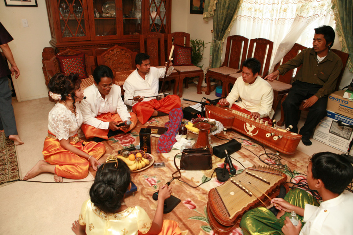 A Cambodian wedding always has plenty of music.