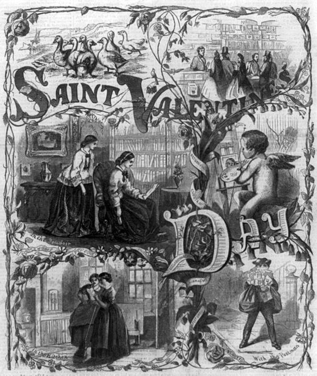 Vintage Valentine's Day Image: Vintage Saint Valentine's Day 1861