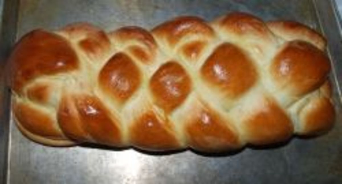 This is a 4-braid loaf we made for our 2011 basket.