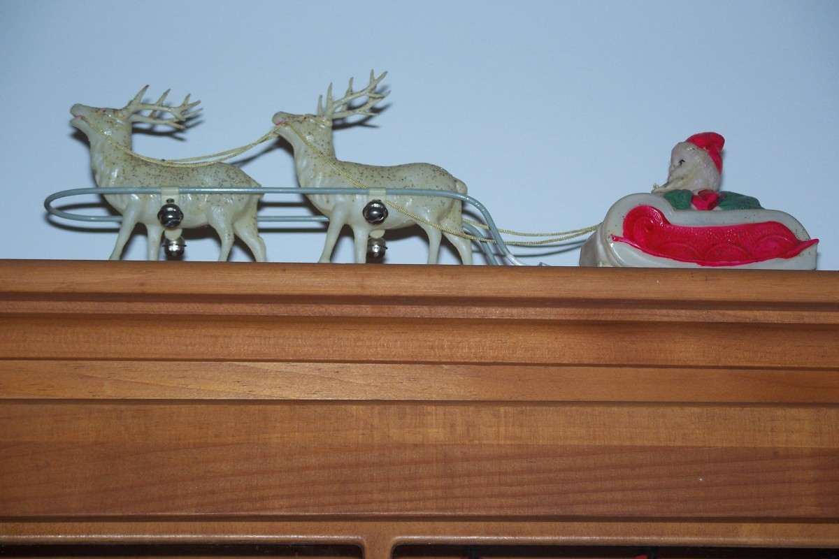 Celluloid Santa & reindeer