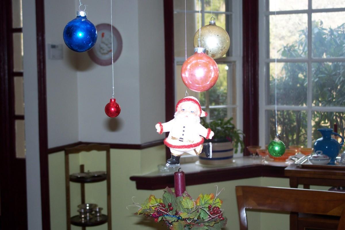 My fabulous old celluloid Santa.
