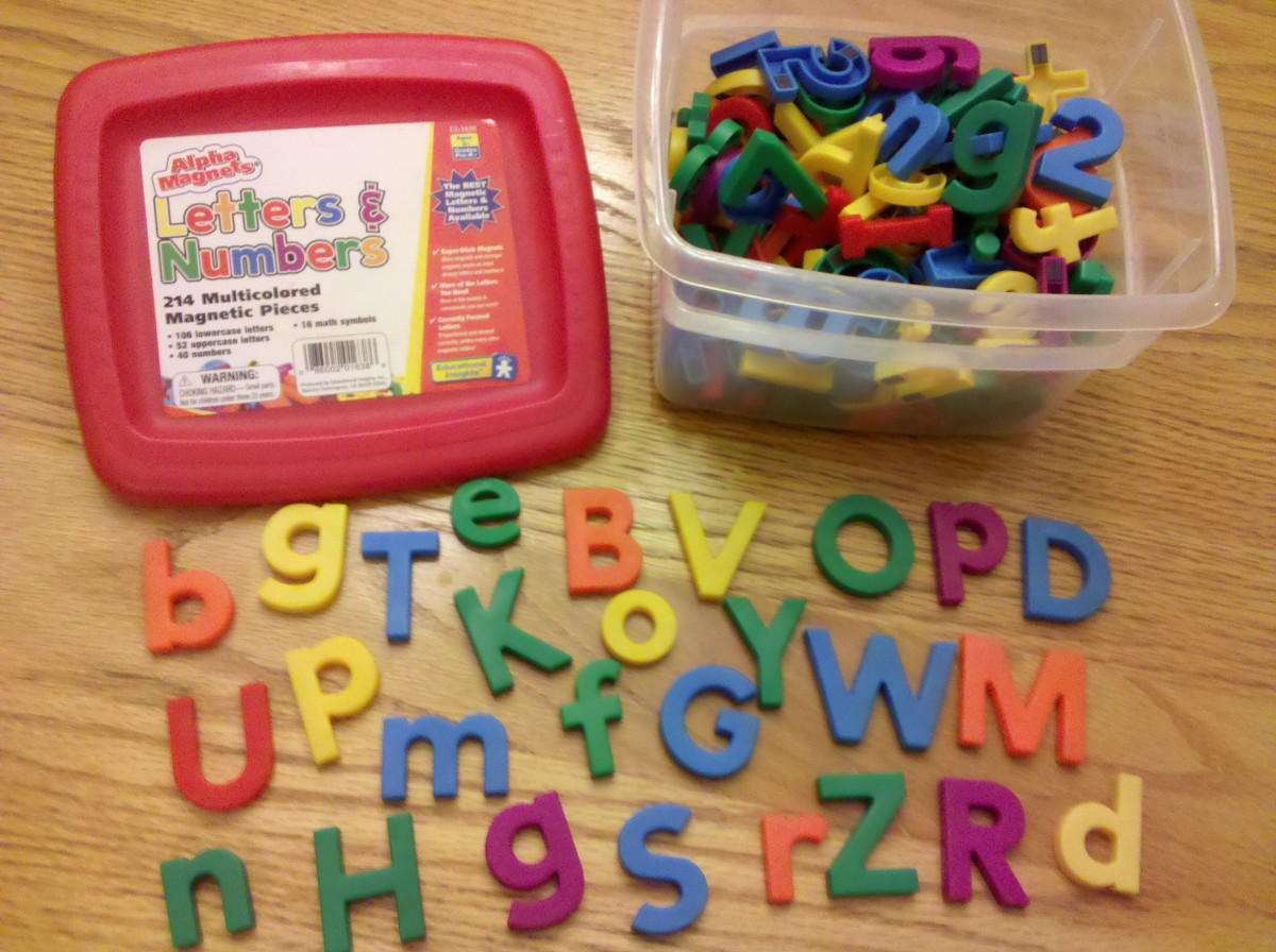 Use magnetic alphabet letters for kids to draw out of a bag to start their scavenger hunt.
