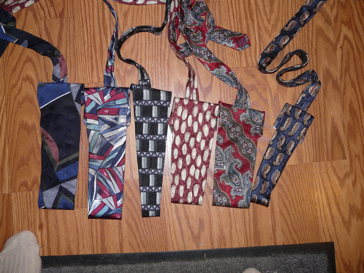 Silk ties are easy to find in thrift shops.
